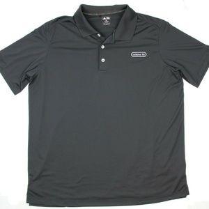 ADIDAS Golf Mens Black Lightweight Polo Shirt
